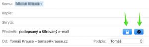 šifrovaný mail